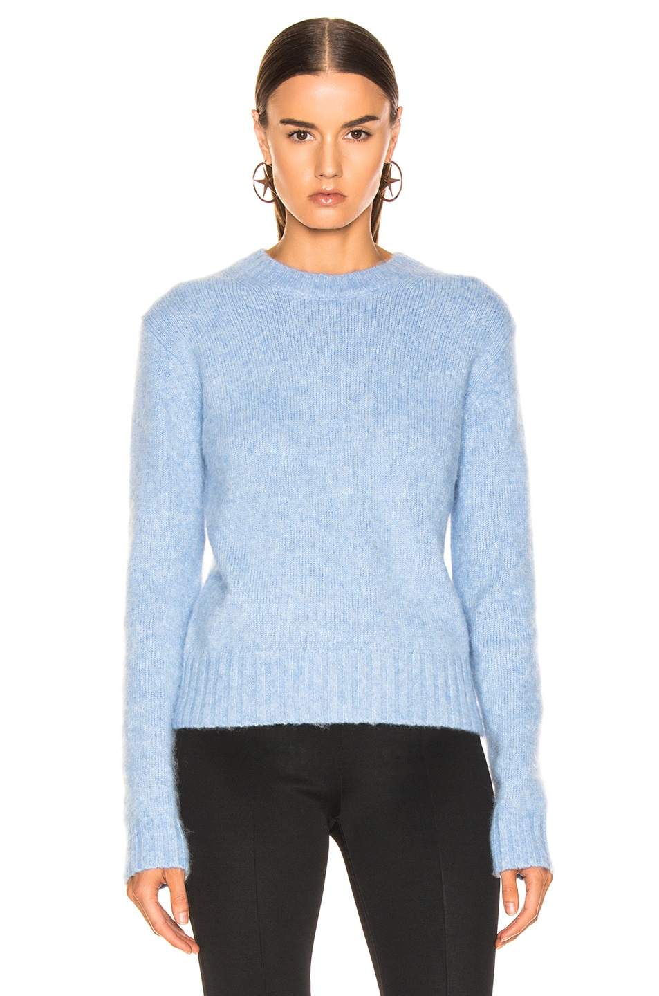 Image 2 of Helmut Lang Brushed Crewneck in Light Blue