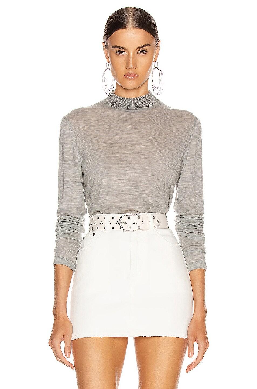 Image 1 of Helmut Lang Mockneck Sweater in Heather Grey