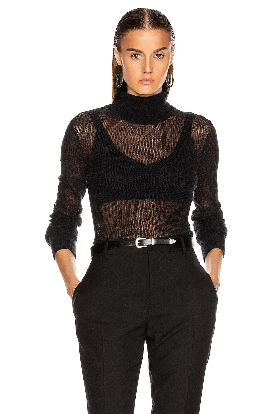Image 1 of Helmut Lang Air Turtleneck Sweater in Black