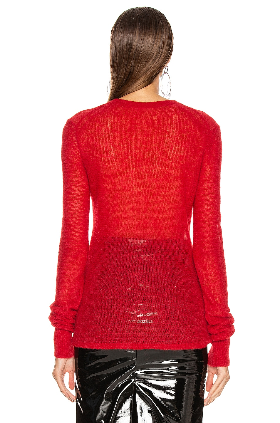 Image 3 of Helmut Lang Air Crew Sweater in Lava
