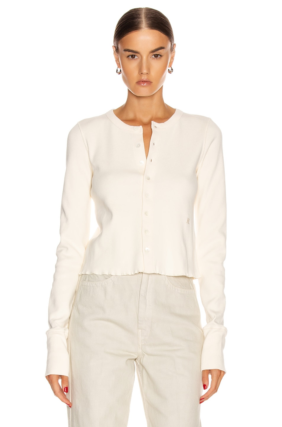 Image 2 of Helmut Lang Femme Cardigan in Pearl