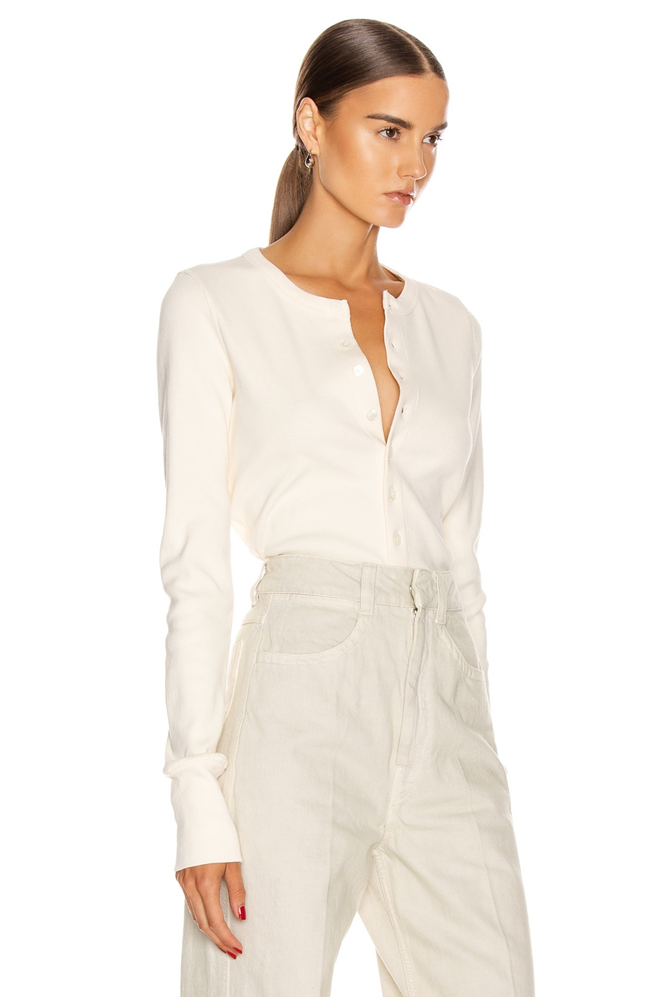 Image 3 of Helmut Lang Femme Cardigan in Pearl