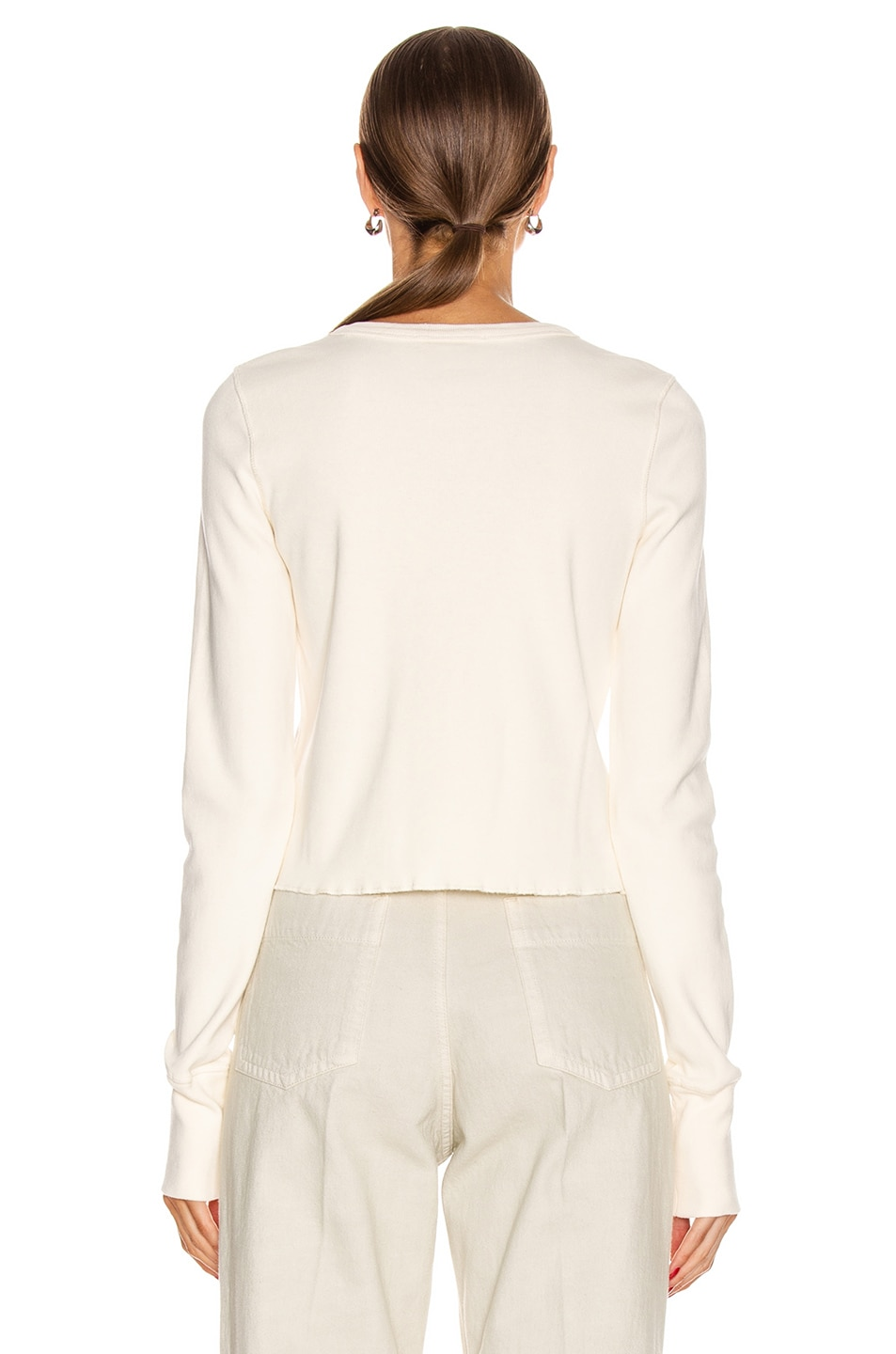 Image 4 of Helmut Lang Femme Cardigan in Pearl