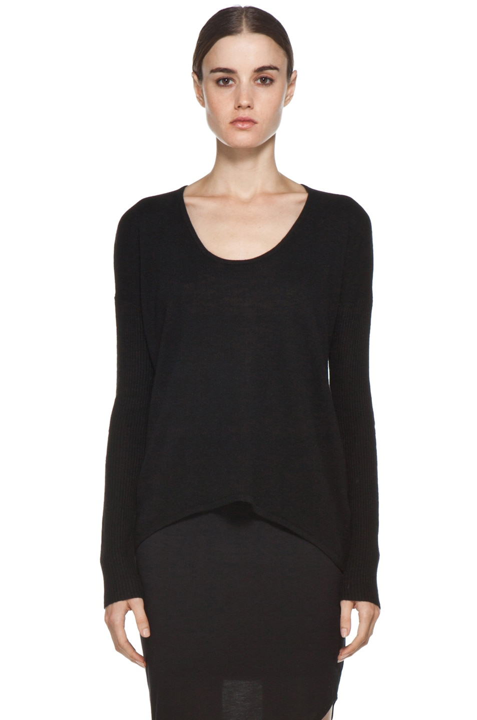 Image 1 of HELMUT Soft Wool Blend Sweater in Black