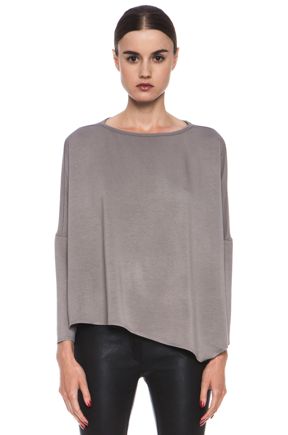 Image 1 of HELMUT Helmut Lang Villous Oversized Viscose Pullover in Wharf