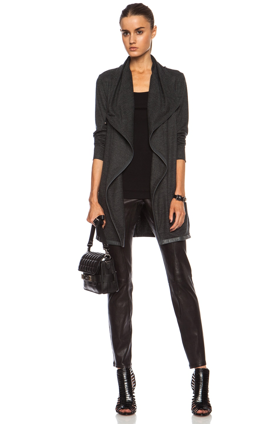 Image 1 of Helmut Lang Sonal Wool Coat in Charcoal Heather