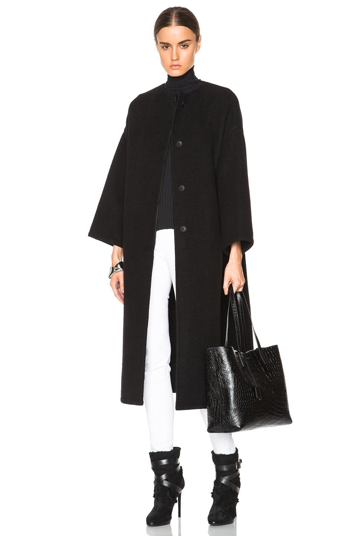 Image 1 of Helmut Lang Oversized Coat in Black