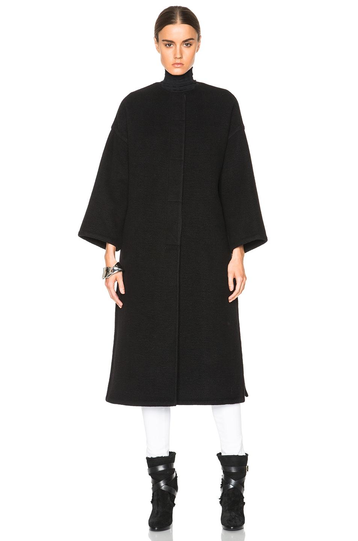 Image 2 of Helmut Lang Oversized Coat in Black