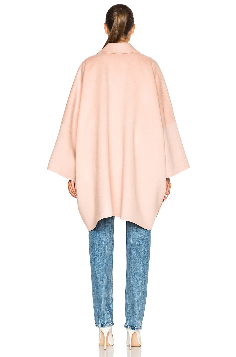 Image 4 of Helmut Lang Double Face Wool Coat in Dusty Pink