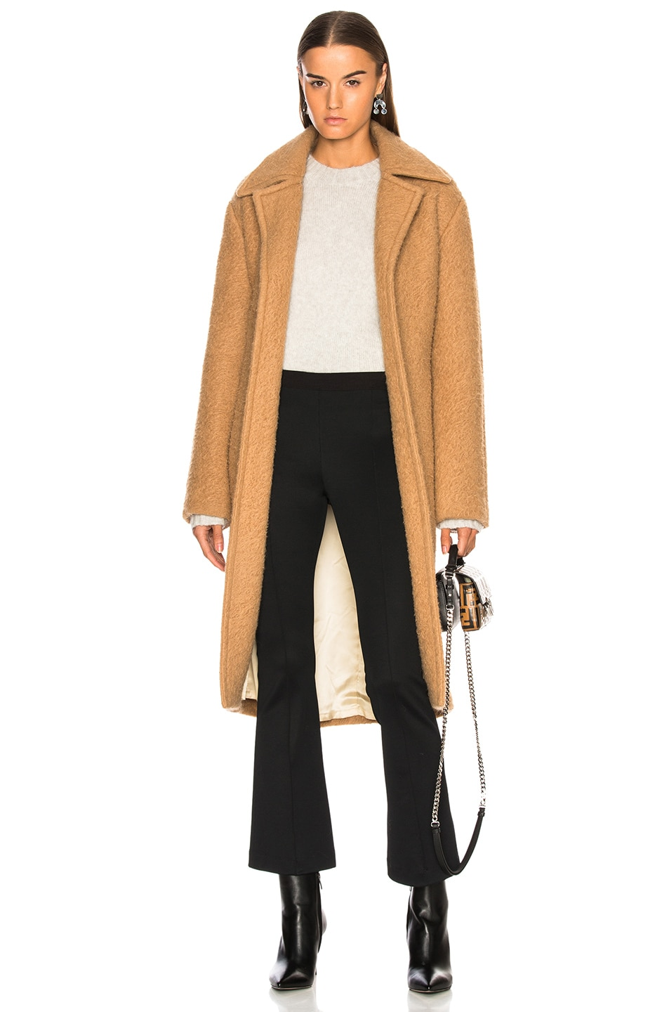 Image 1 of Helmut Lang Nappy Wool Coat in Camel