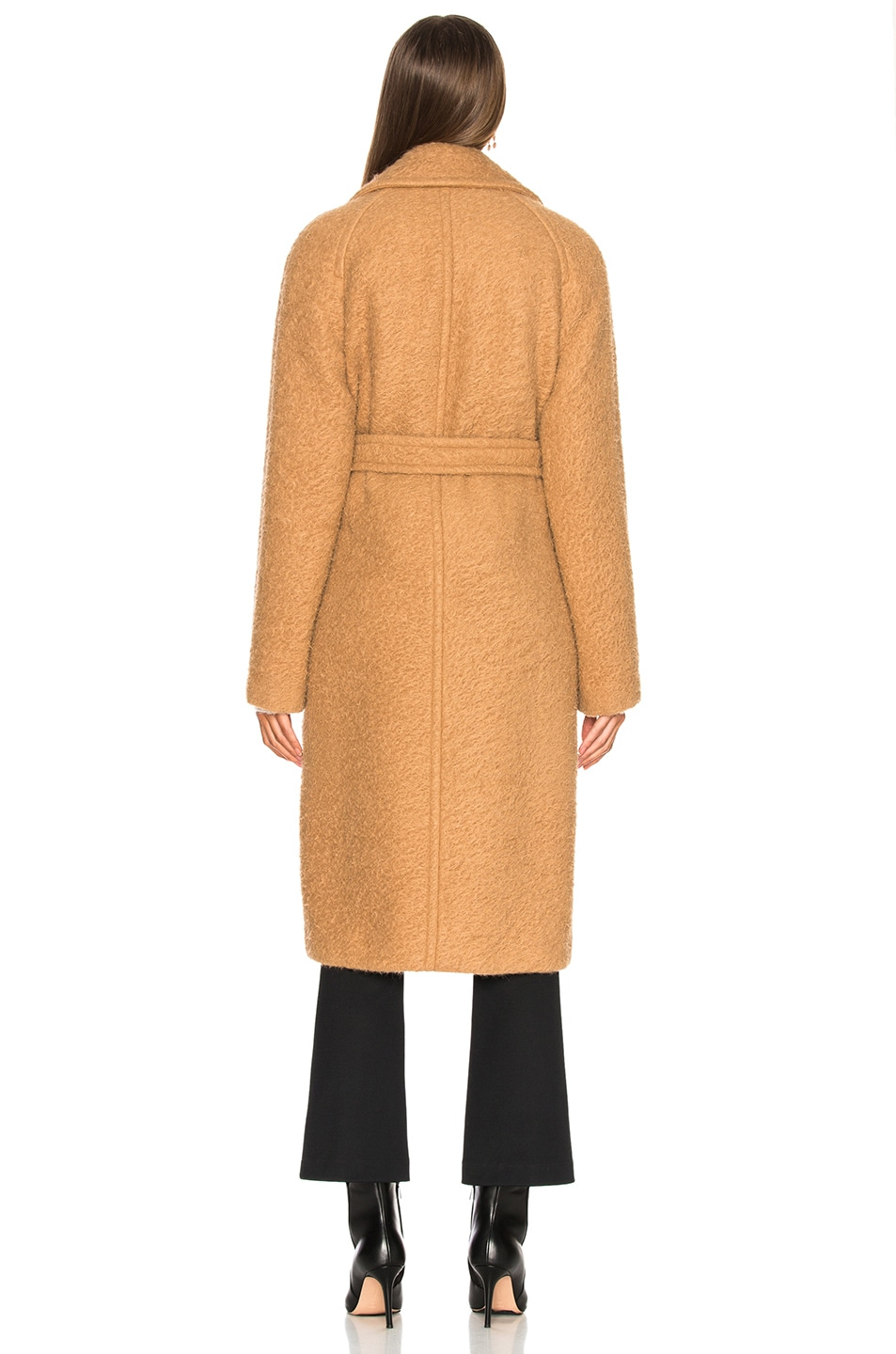 Image 4 of Helmut Lang Nappy Wool Coat in Camel