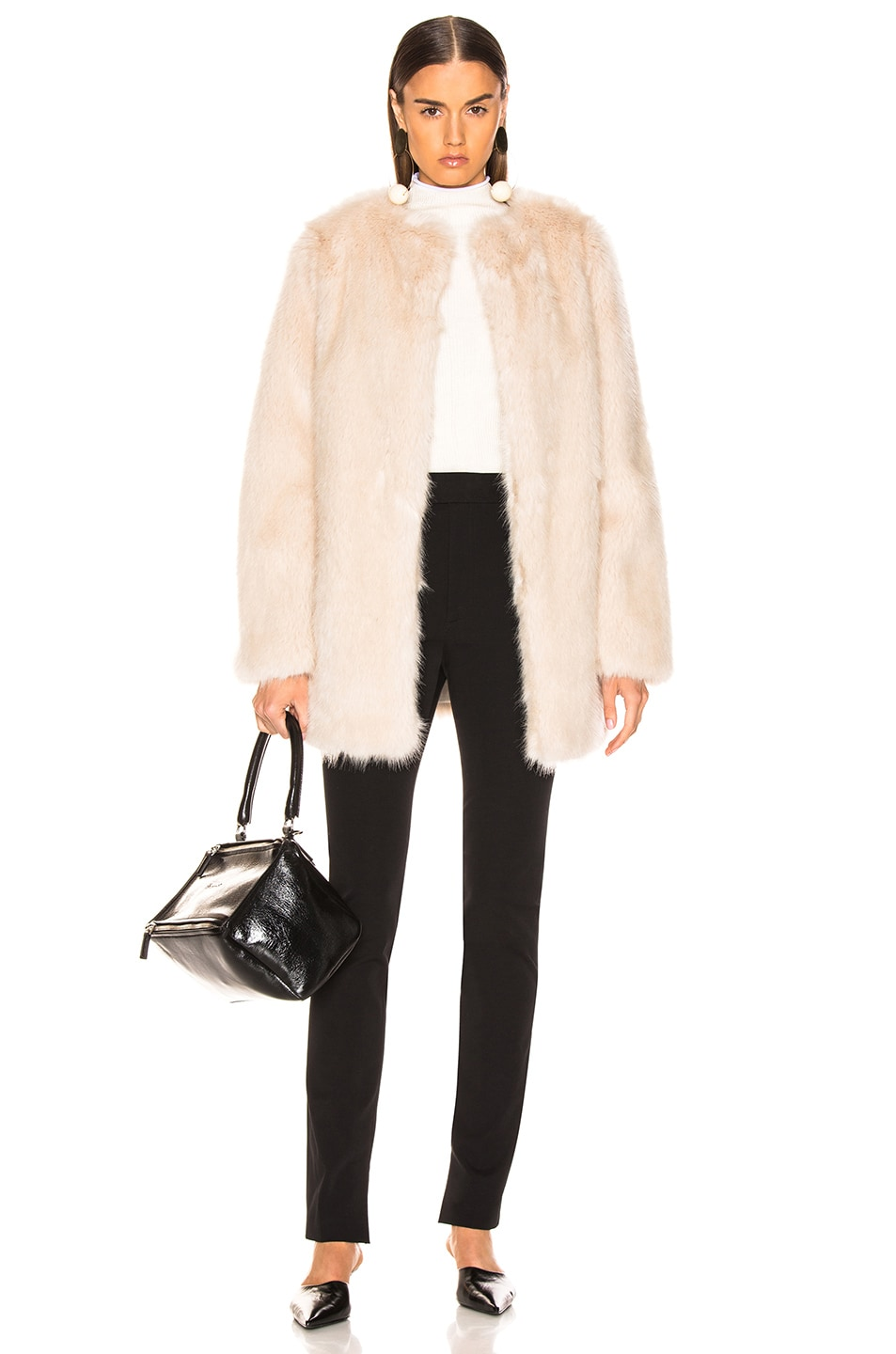 Image 5 of Helmut Lang Faux Fur Coat in Oatmeal