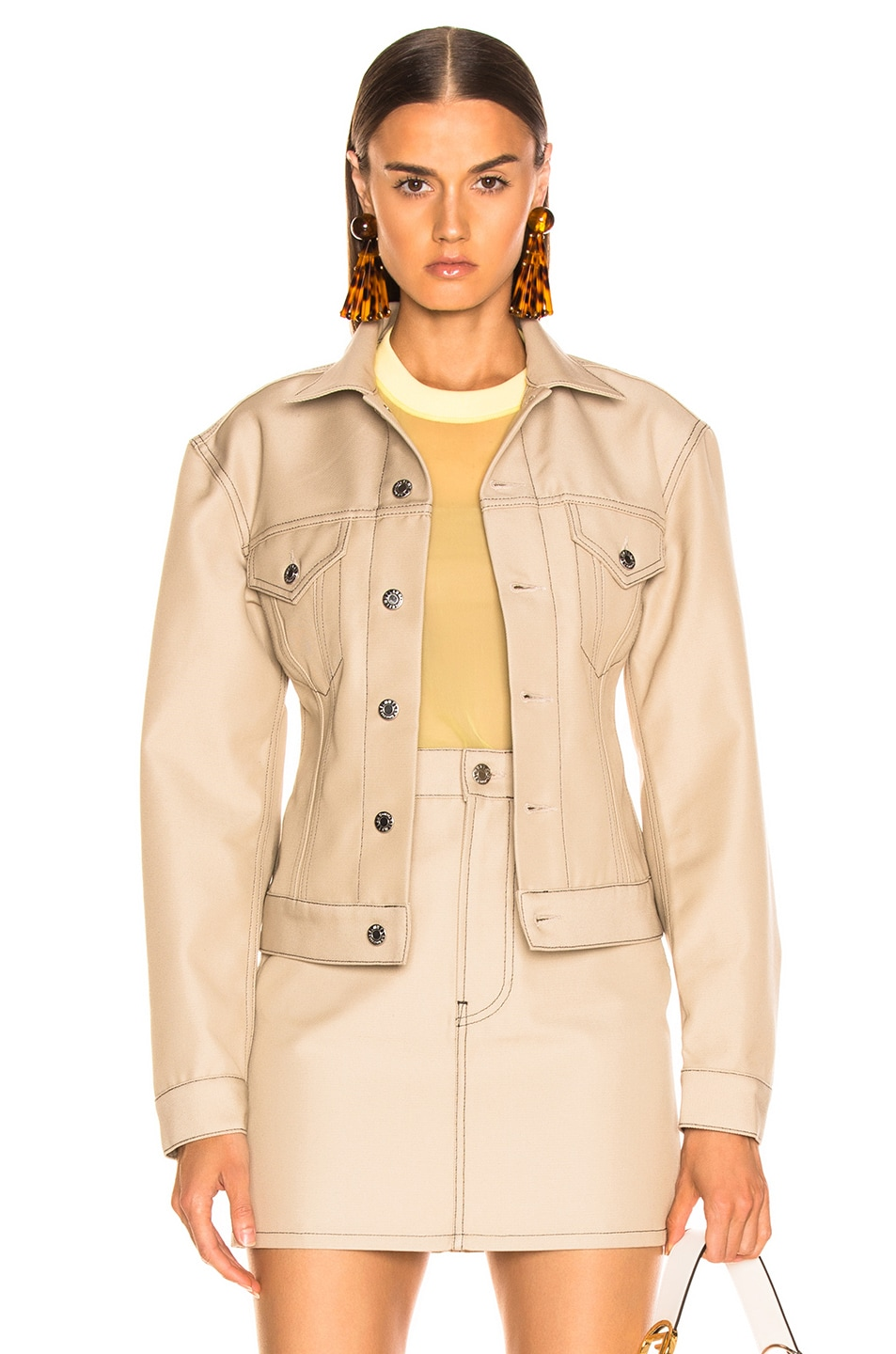 Image 1 of Helmut Lang Femme Trucker Jacket in Tufa