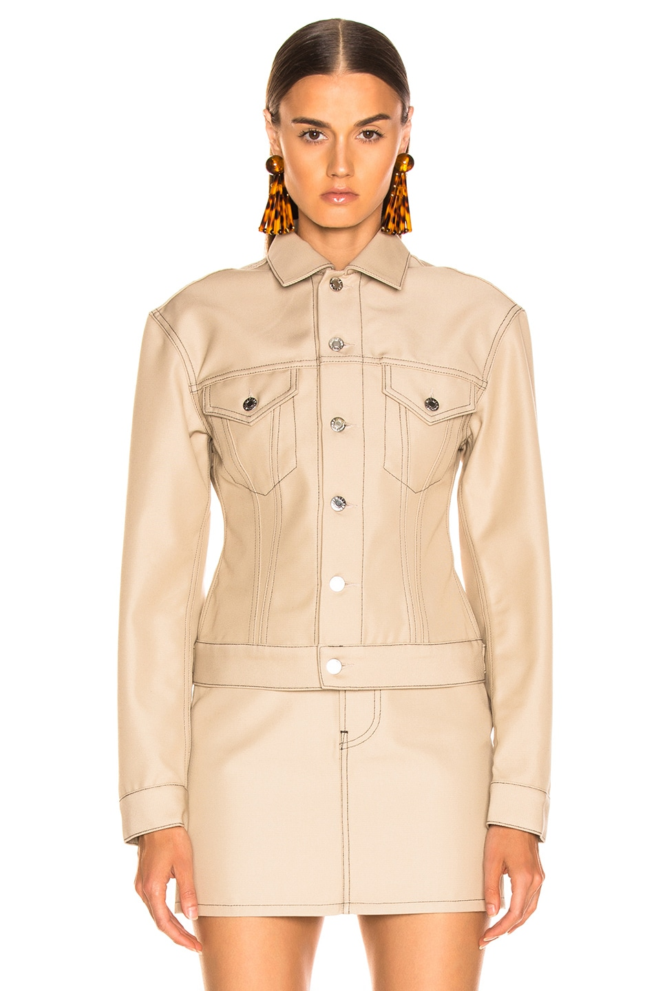 Image 2 of Helmut Lang Femme Trucker Jacket in Tufa