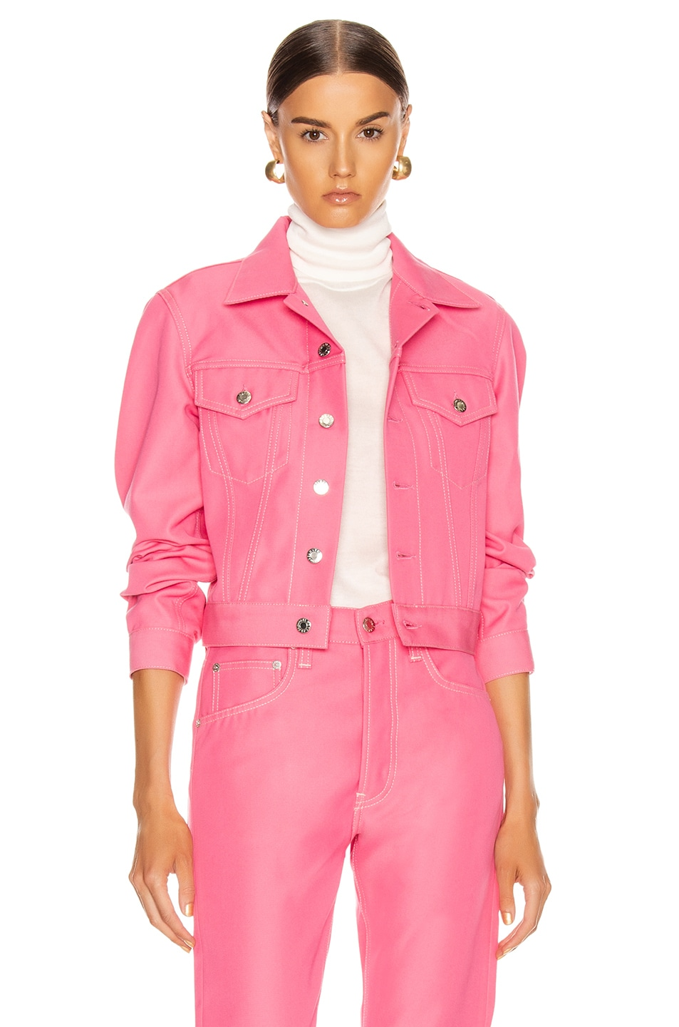 Image 1 of Helmut Lang Masc Trucker Jacket in Prism Pink