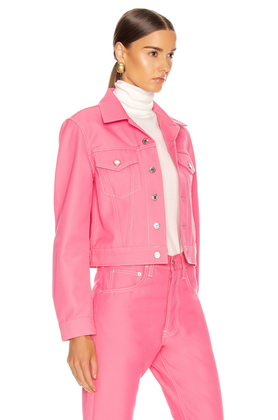 Image 2 of Helmut Lang Masc Trucker Jacket in Prism Pink