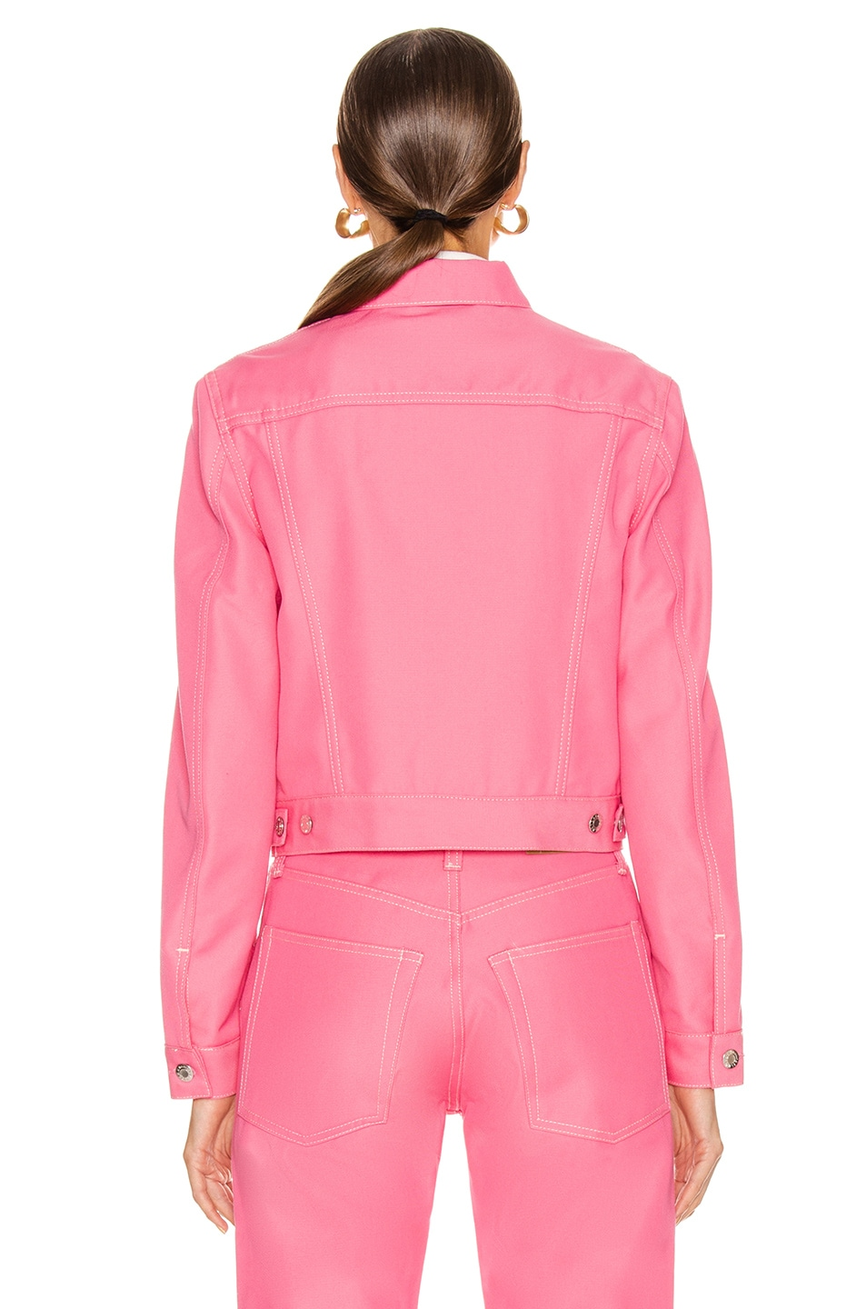 Image 3 of Helmut Lang Masc Trucker Jacket in Prism Pink