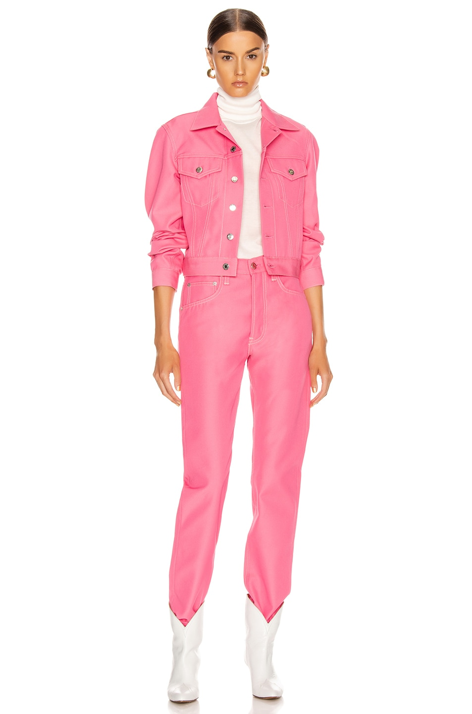 Image 4 of Helmut Lang Masc Trucker Jacket in Prism Pink