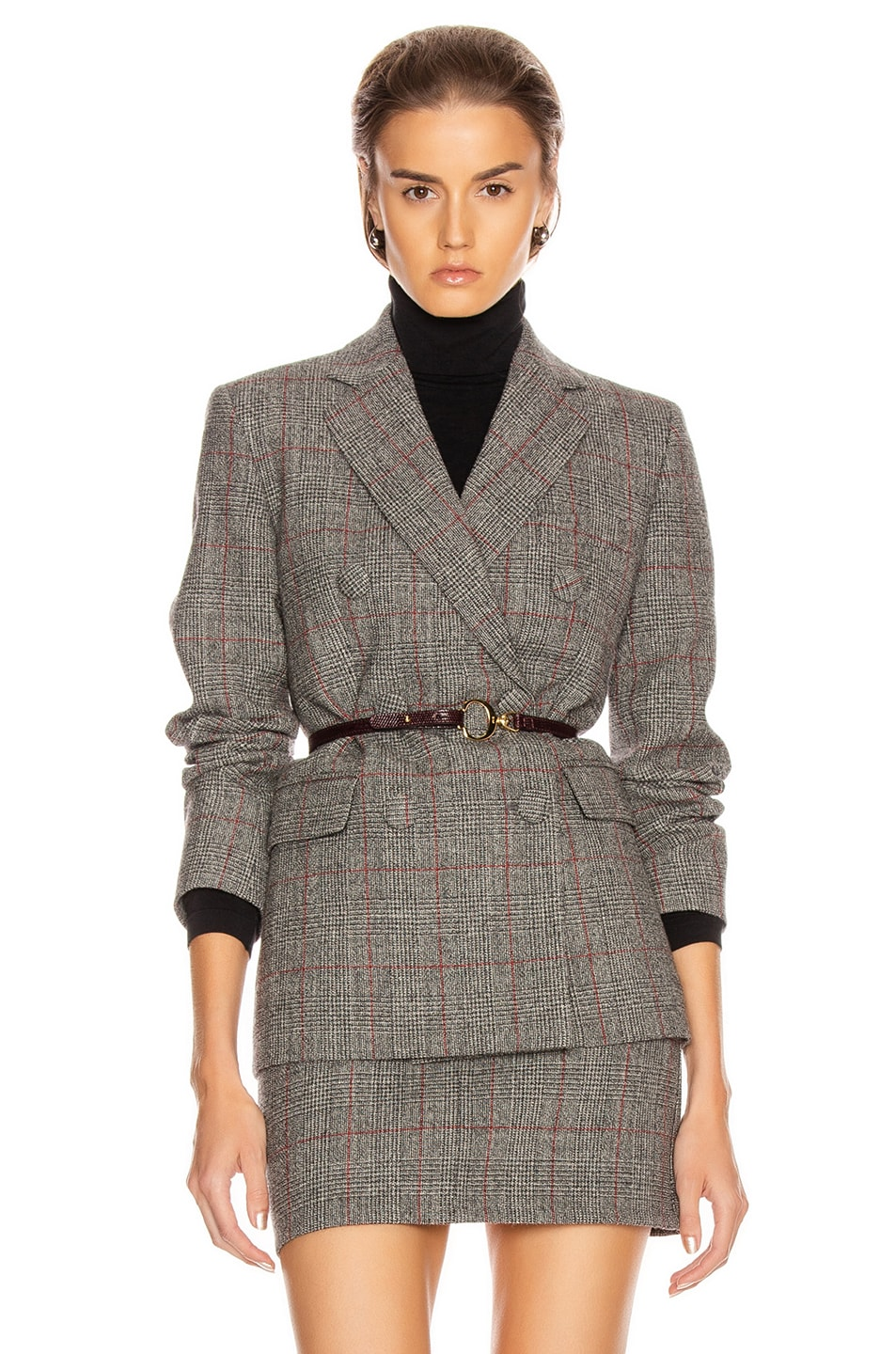 Image 1 of Helmut Lang Double Breasted Blazer in Charcoal