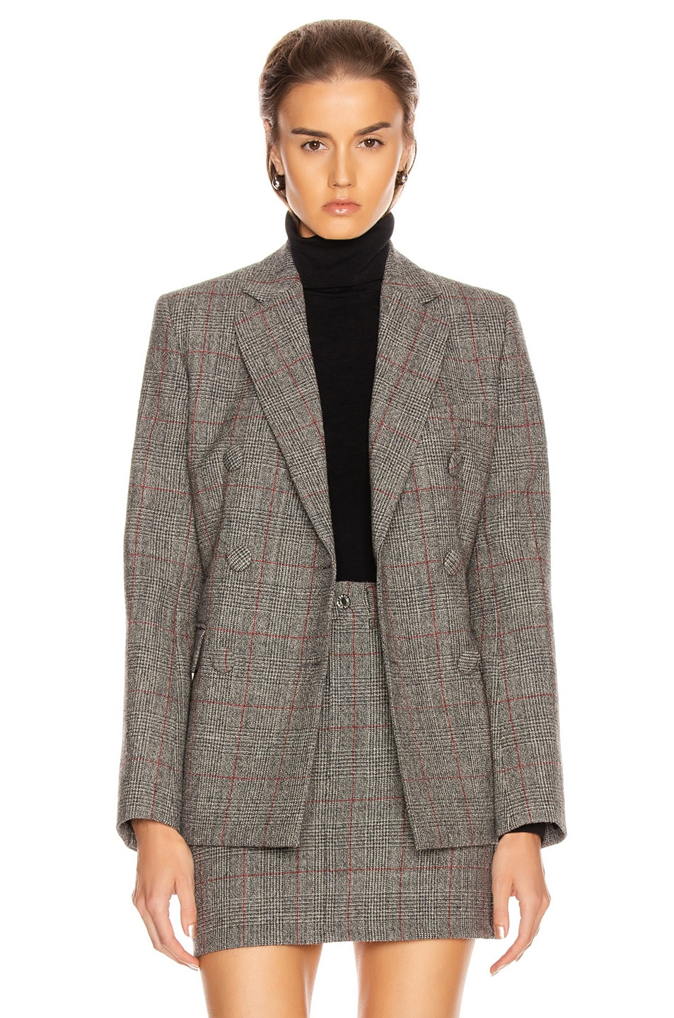 Image 2 of Helmut Lang Double Breasted Blazer in Charcoal