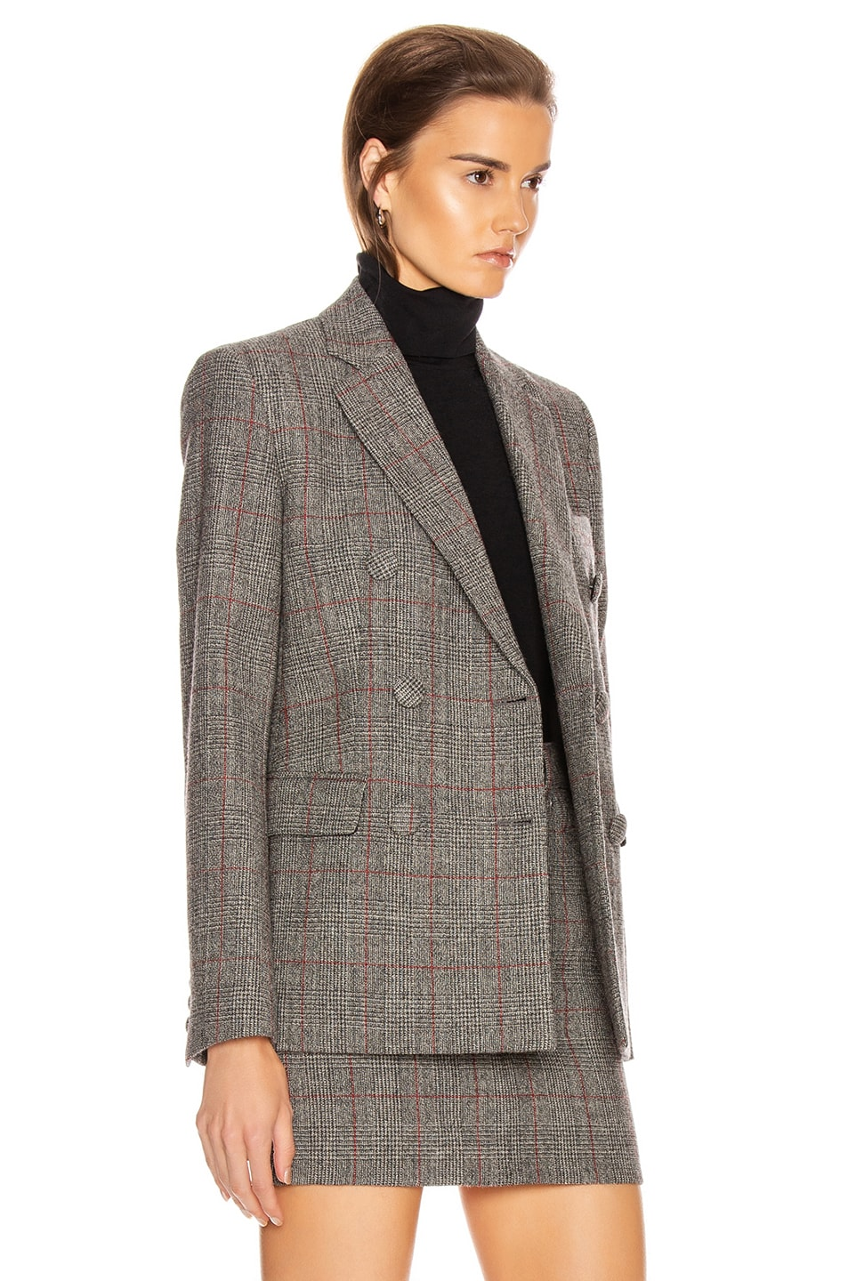 Image 4 of Helmut Lang Double Breasted Blazer in Charcoal