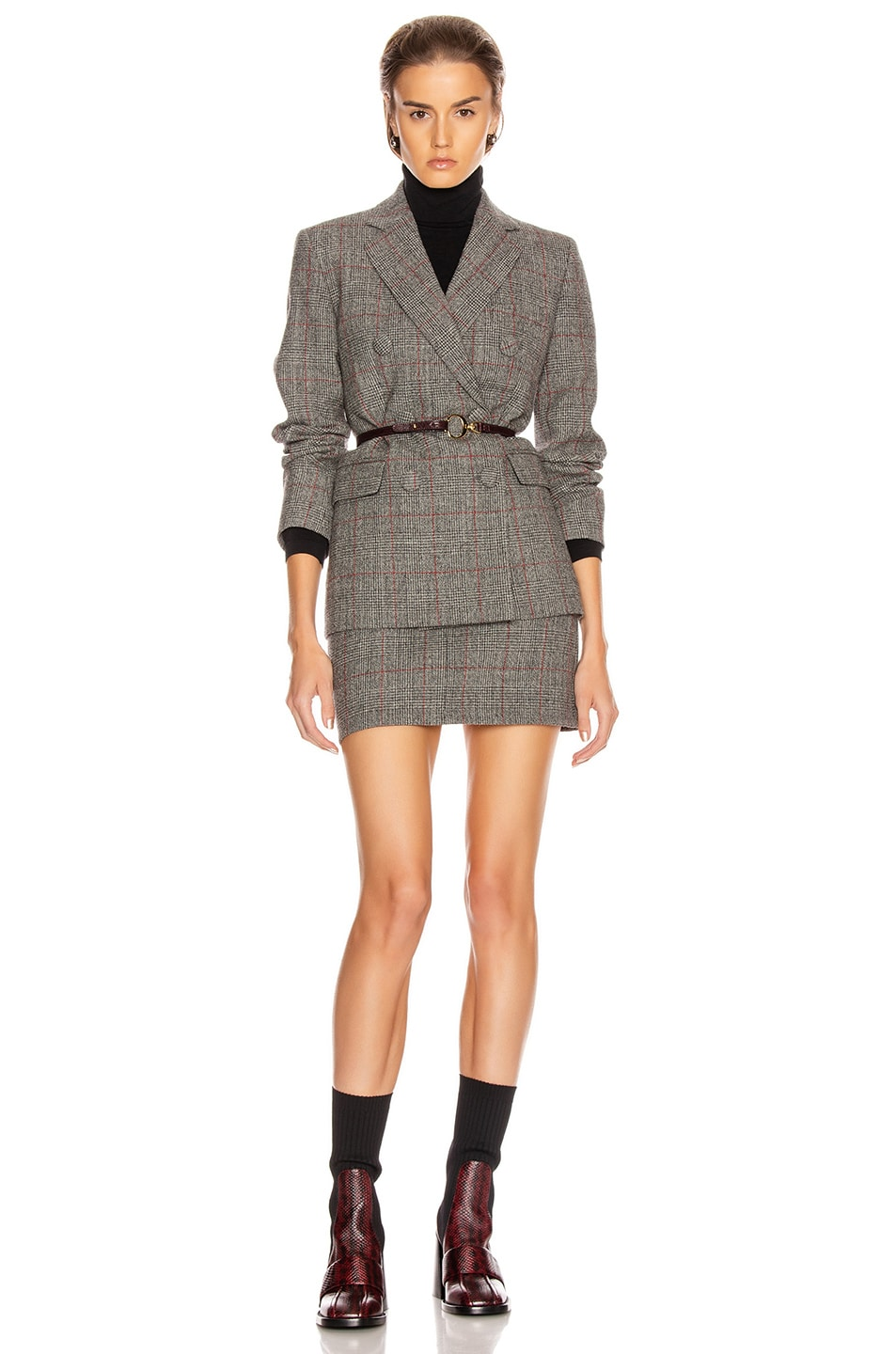 Image 6 of Helmut Lang Double Breasted Blazer in Charcoal