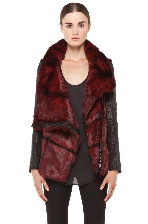 Image 1 of Helmut Lang Spanish Flux Fur Jacket in Black