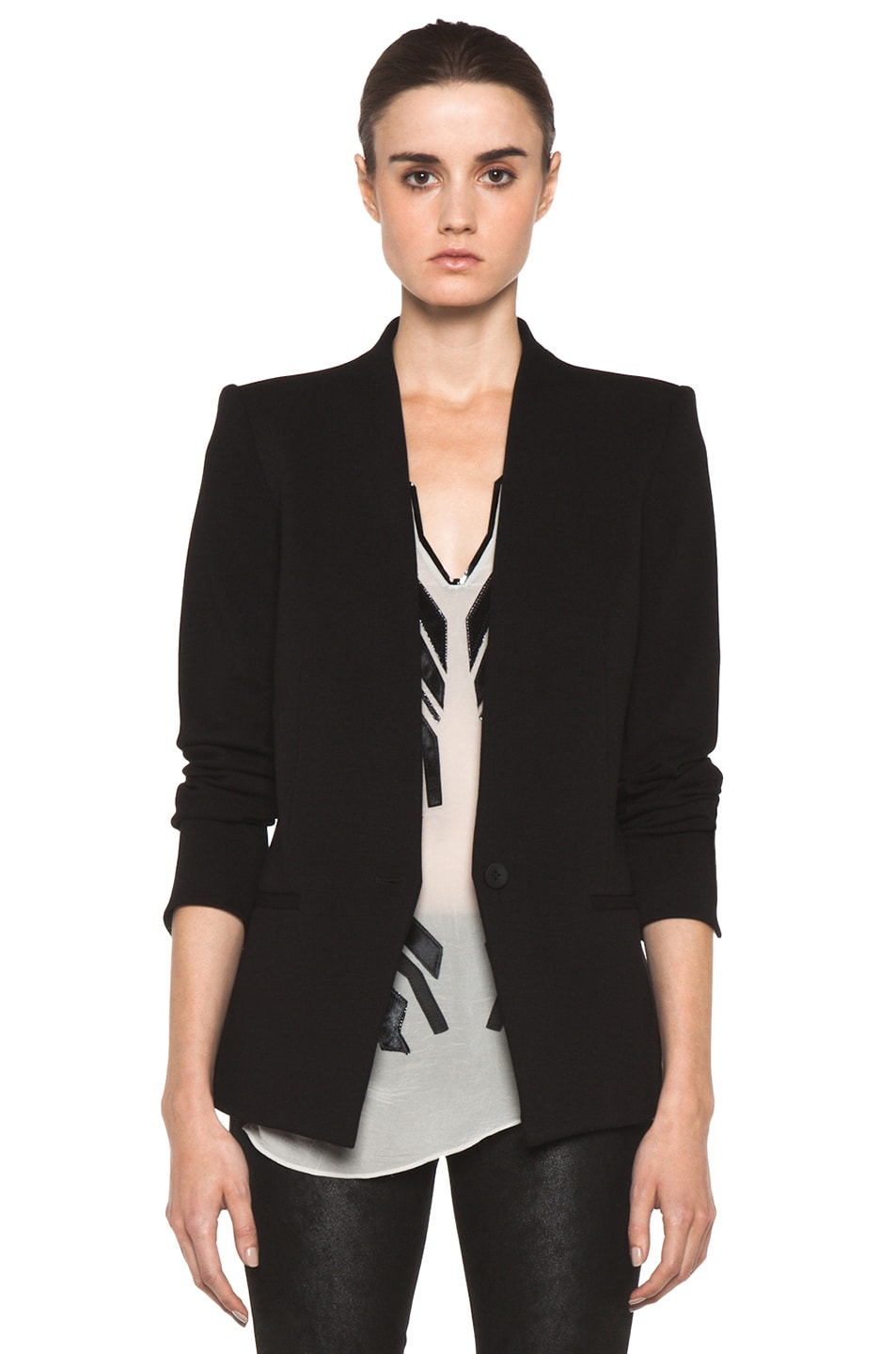 Image 1 of HELMUT Gala Knit Blazer in Black