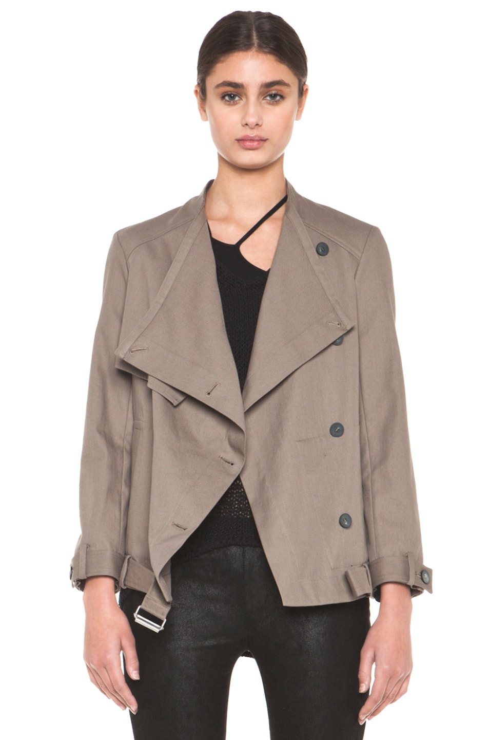 Image 1 of HELMUT Surge Cotton Trench Coat in Lint