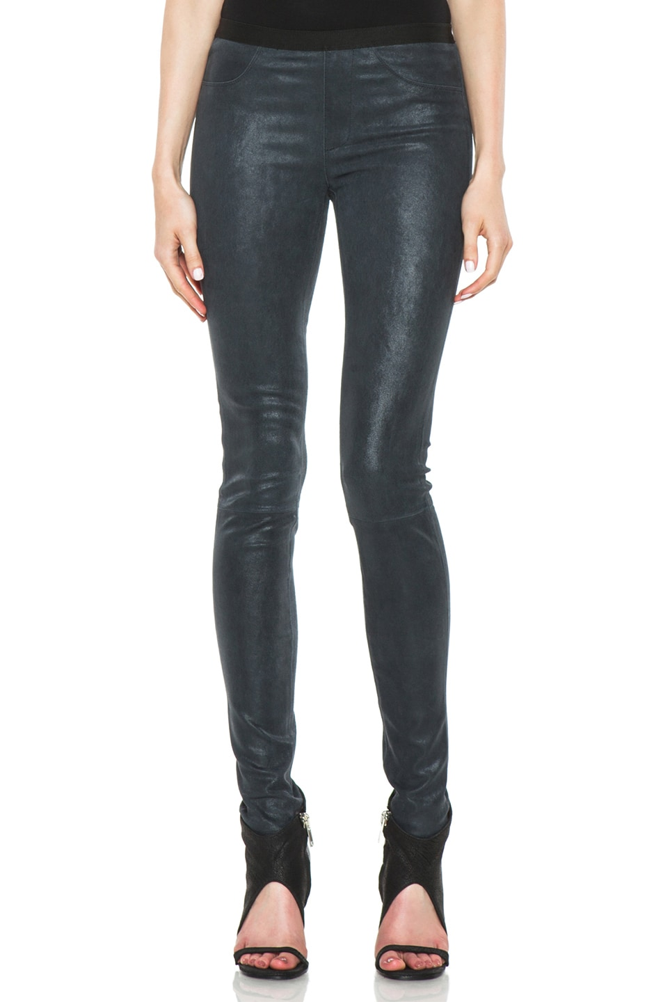 8a4fd873c274e Image 1 of Helmut Lang Patina Stretch Leather Legging in Frozen