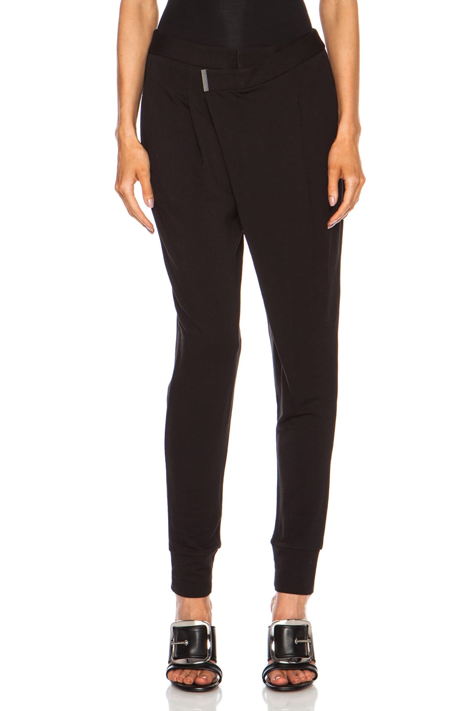 Image 1 of Helmut Lang Villous Origami Rayon-Blend Pant in Black