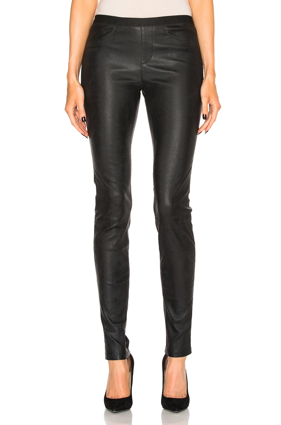 3b3a6a481e906e Image 1 of Helmut Lang Leather Legging in Black