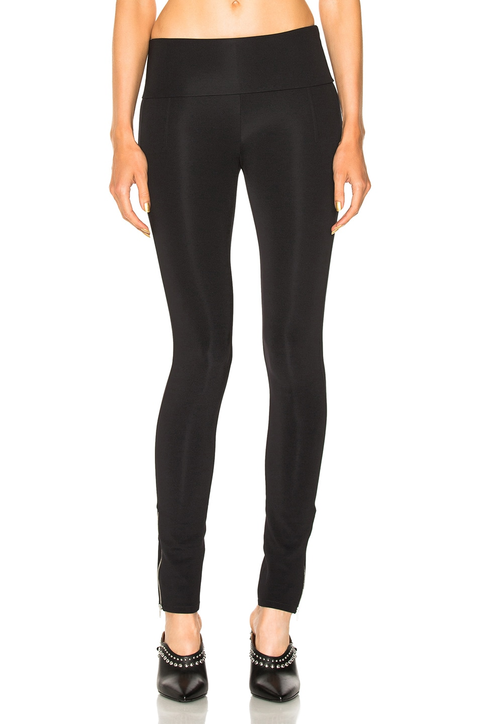 Image 1 of Helmut Lang Technical Zip Legging in Black