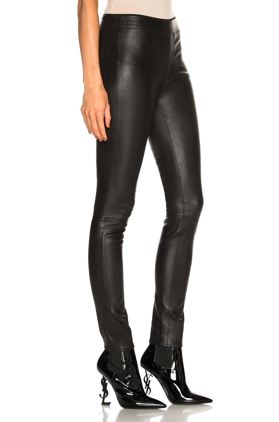 Image 2 of Helmut Lang Leather Legging in Black