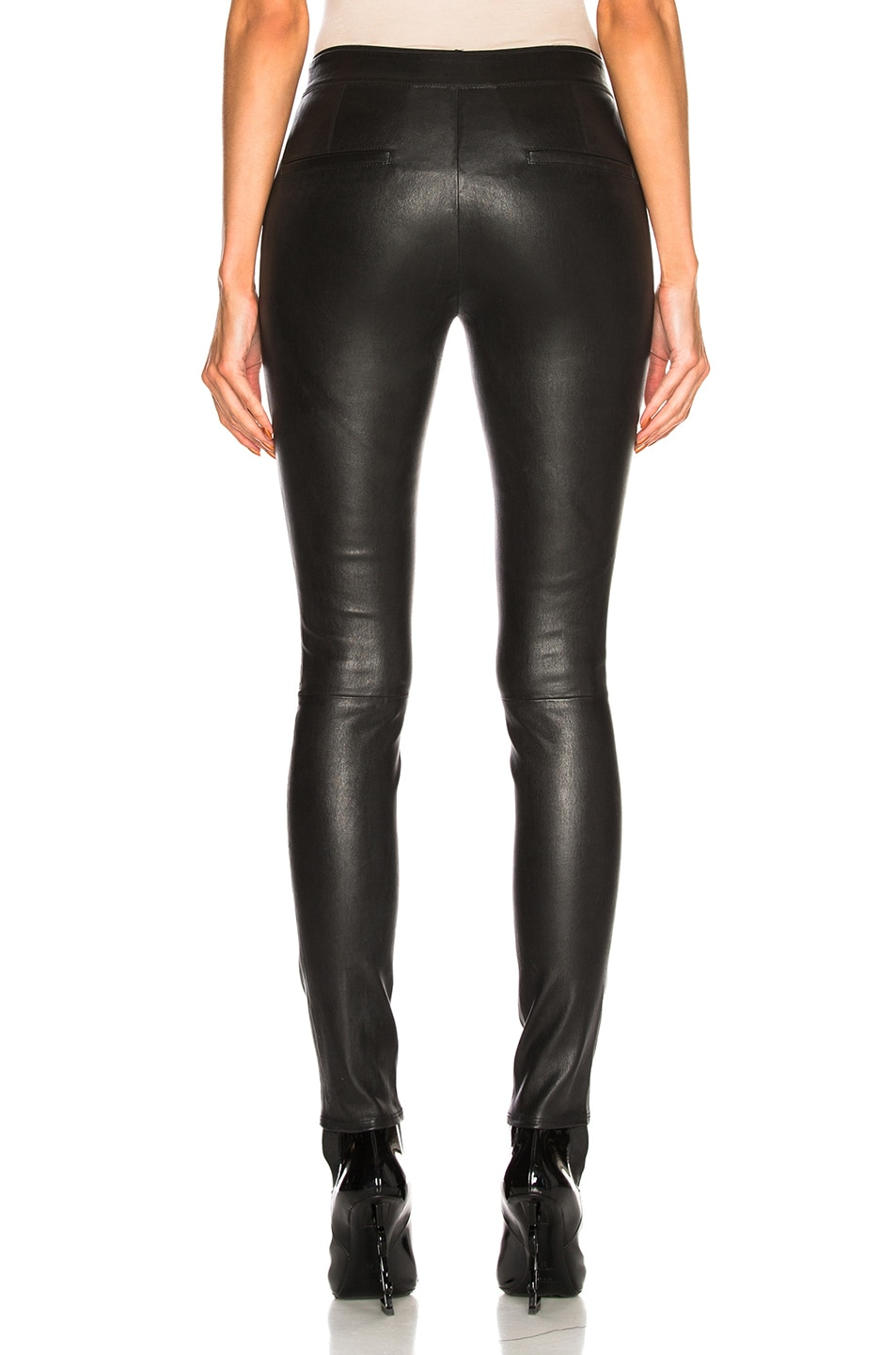 Image 3 of Helmut Lang Leather Legging in Black