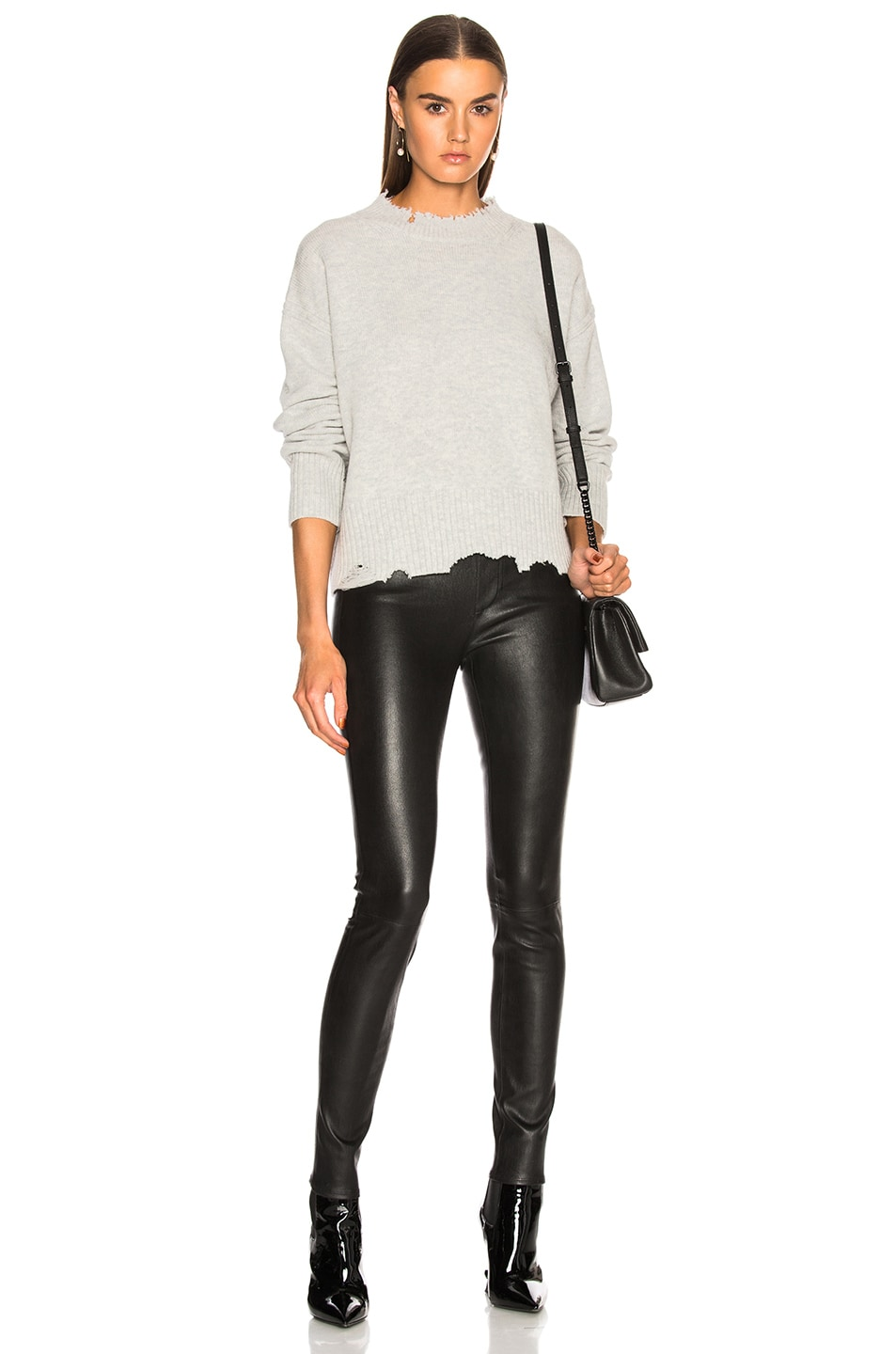 Image 4 of Helmut Lang Leather Legging in Black