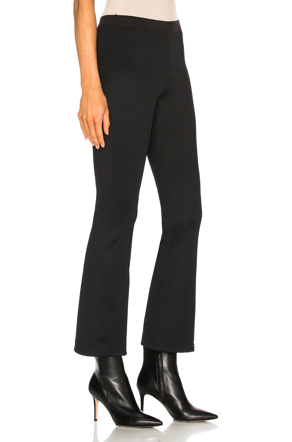 Image 2 of Helmut Lang Cropped Flare Rib Legging in Black
