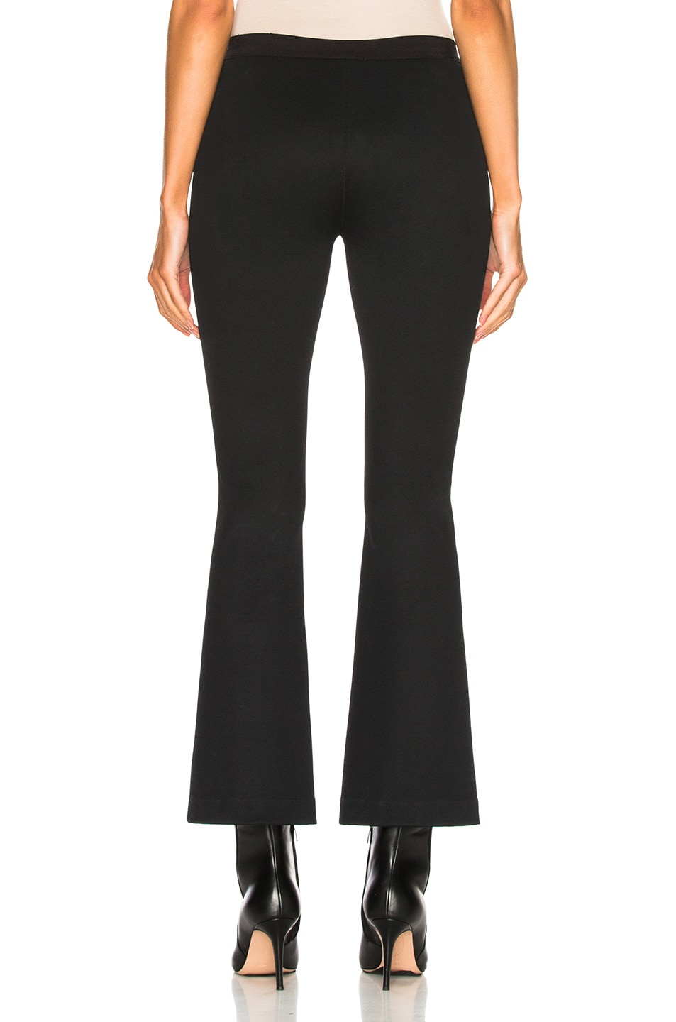 Image 3 of Helmut Lang Cropped Flare Rib Legging in Black