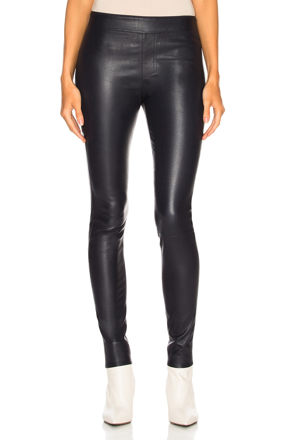 Image 1 of Helmut Lang Leather Legging in Nightfall