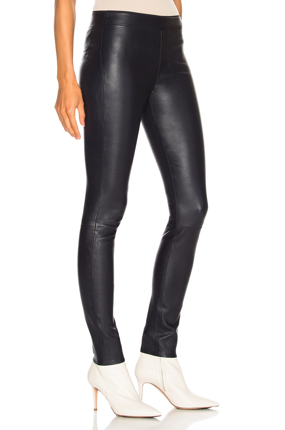 Image 2 of Helmut Lang Leather Legging in Nightfall