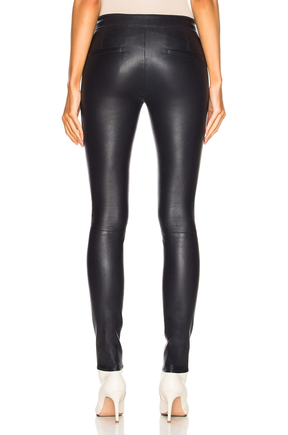 Image 3 of Helmut Lang Leather Legging in Nightfall