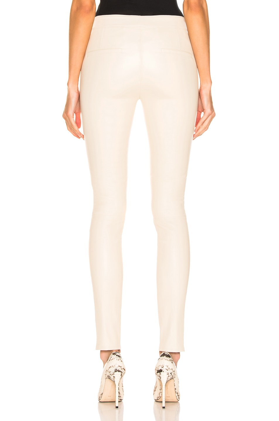 Image 3 of Helmut Lang Leather Legging in Flax