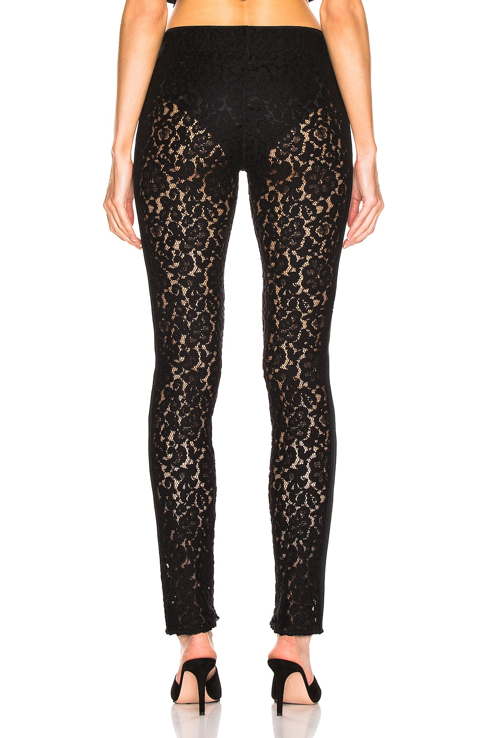 Image 3 of Helmut Lang Lace Legging in Black
