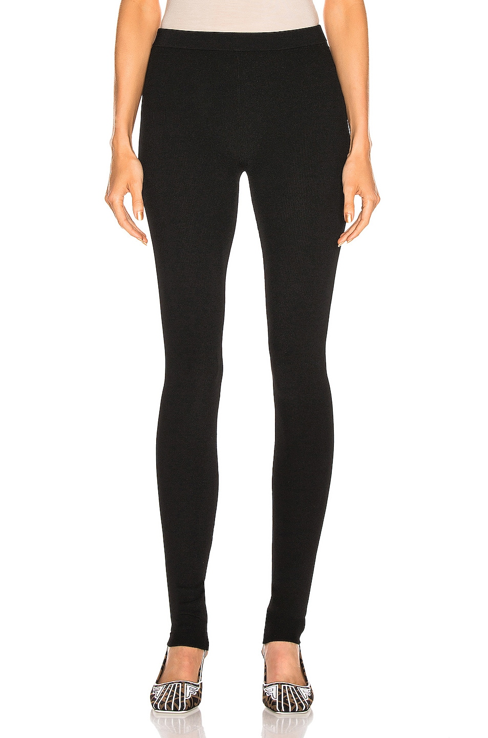 Image 1 of Helmut Lang Parachute Rib Legging in Black