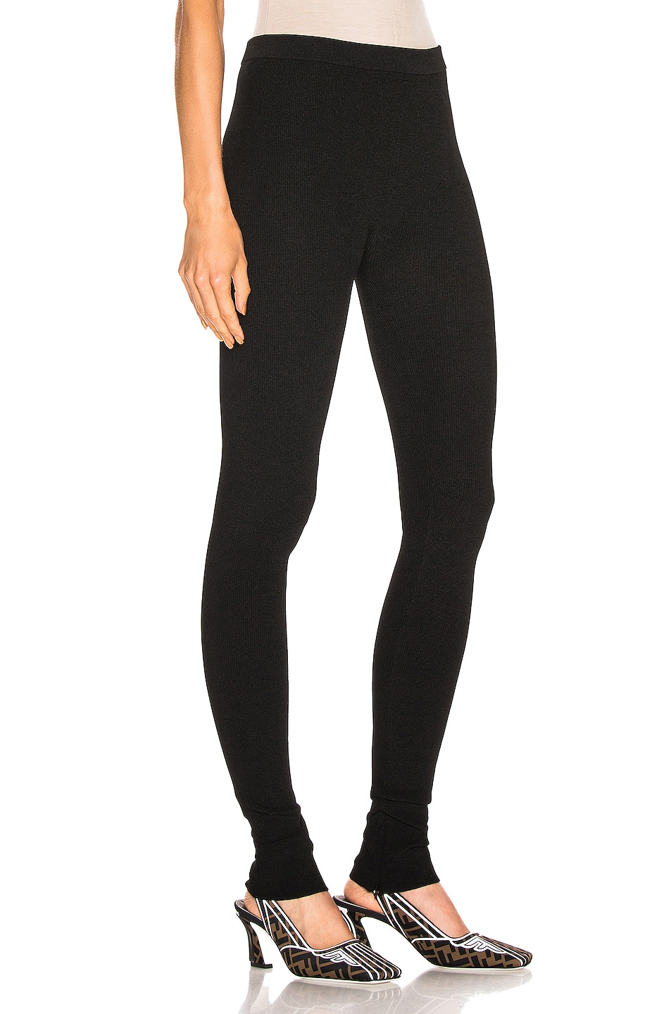 Image 2 of Helmut Lang Parachute Rib Legging in Black