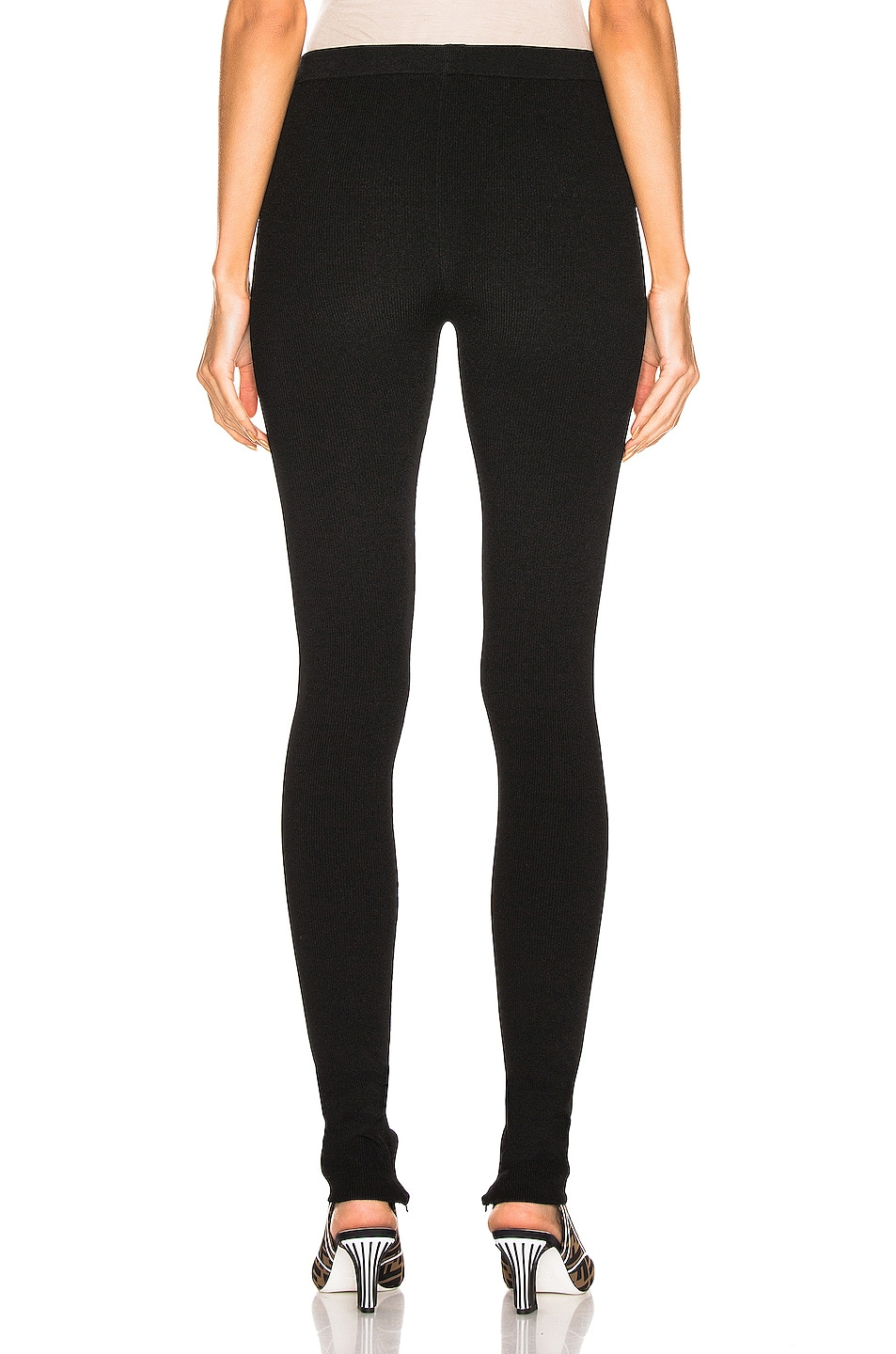 Image 3 of Helmut Lang Parachute Rib Legging in Black