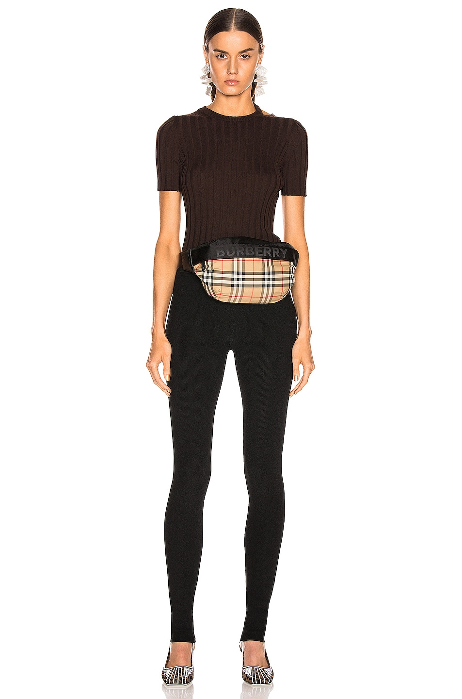 Image 4 of Helmut Lang Parachute Rib Legging in Black