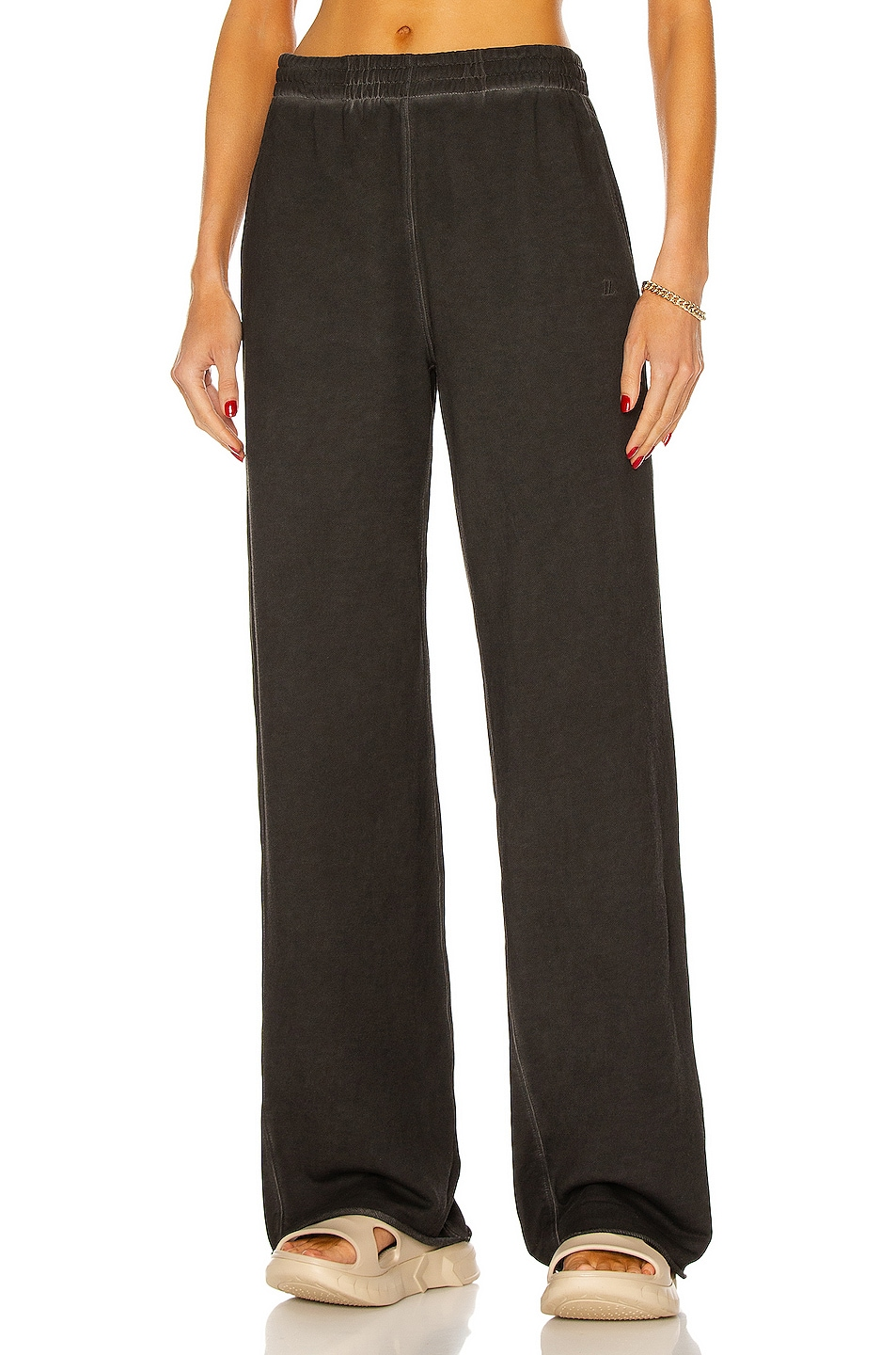 Image 1 of Helmut Lang Wide Leg Sweatpant in Charcoal