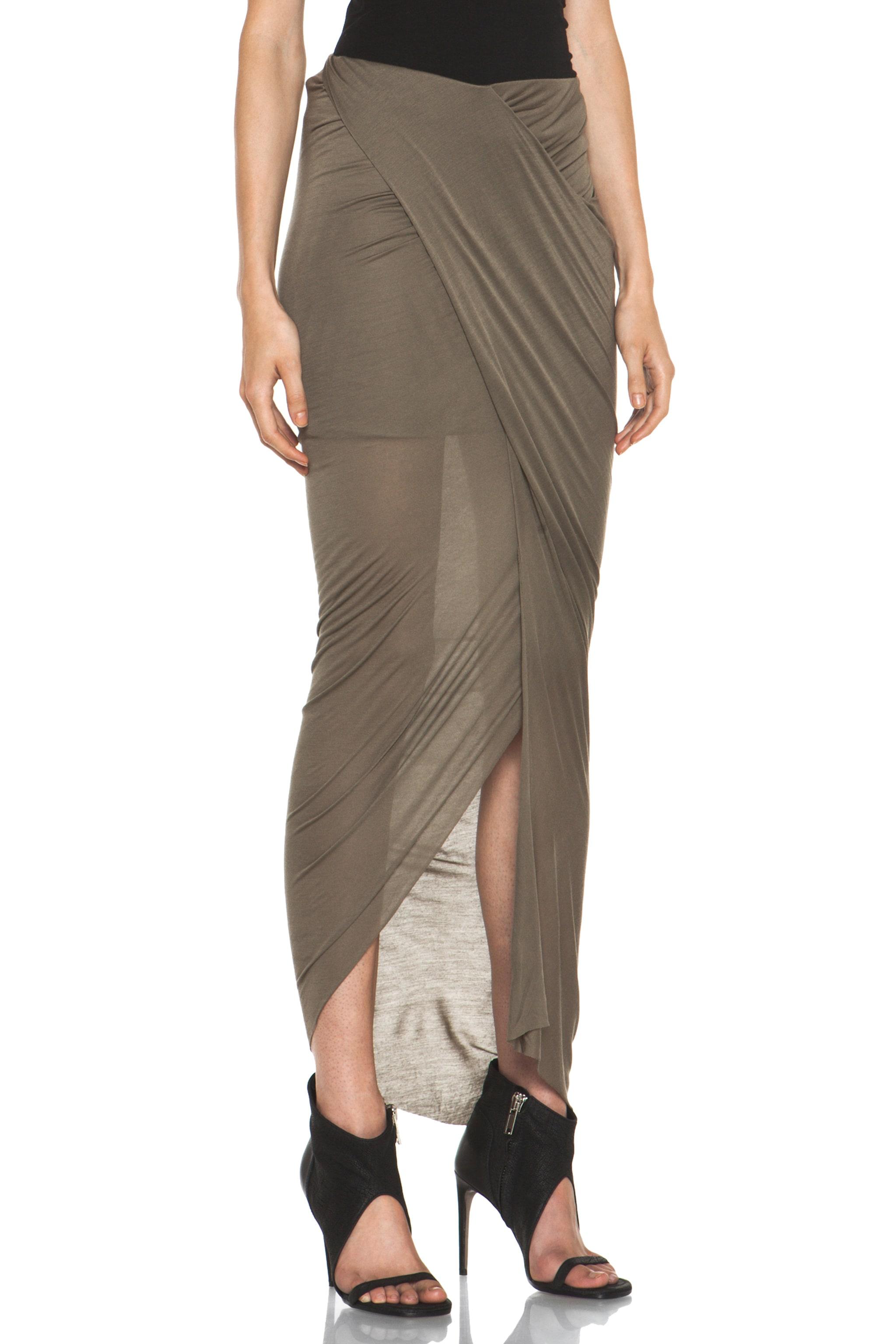 2e541bc056 Image 3 of Helmut Lang Slack Jersey Wrap Skirt in Lint