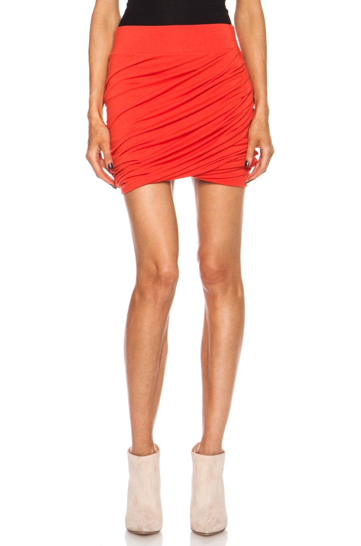 Image 1 of Helmut Lang Nova Jersey Twist Skirt in Vein